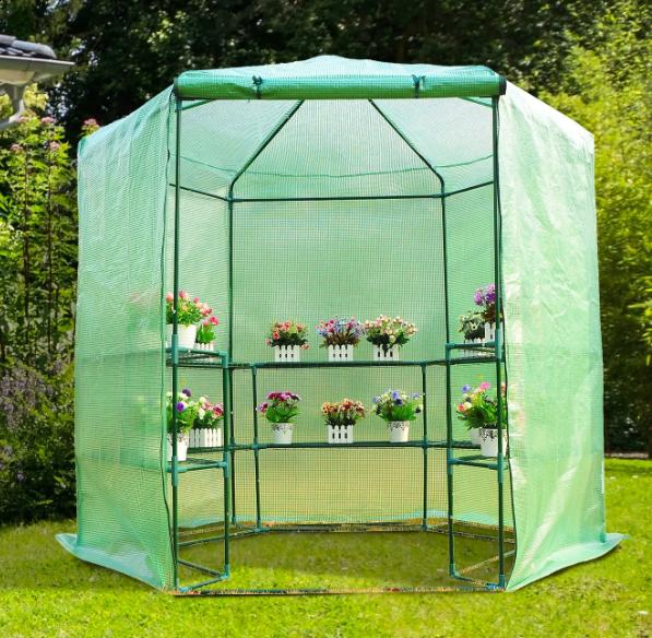 Outsunny  Walk-in 3-Tier Portable Greenhouse