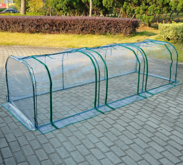 Outsunny PVC Transparent Greenhouse with Steel Frame