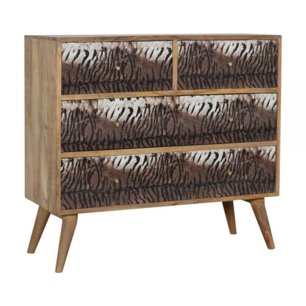 Tiger Drawer Print Chest of Drawers