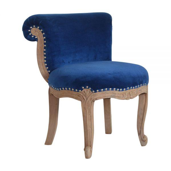 Royal Blue Studded Chair