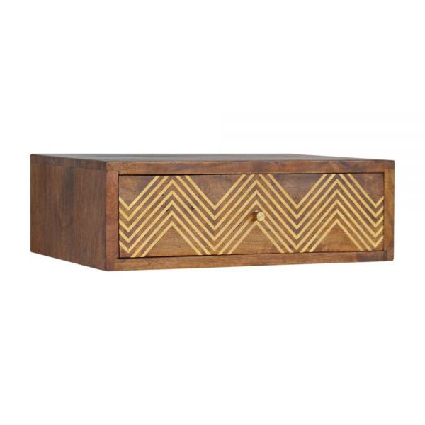 Wall Mounted Chevron Bedside Table
