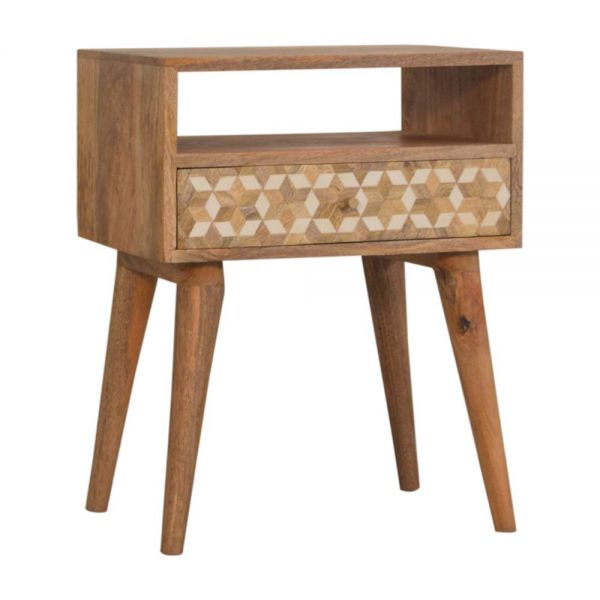 Mixed Cube Bedside Table