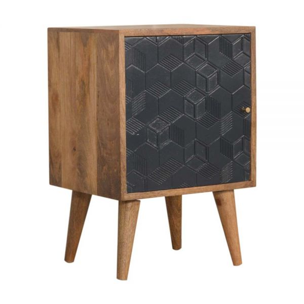 Acadia Navy Blue Bedside Table