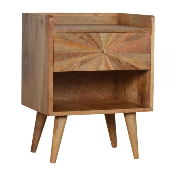 Sunrise Bedside Table with Open Slot