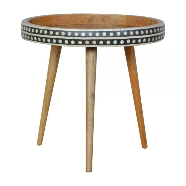 Large Patterned Nordic Style End Table