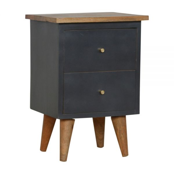 Midnight Blue Hand Painted Bedside Table