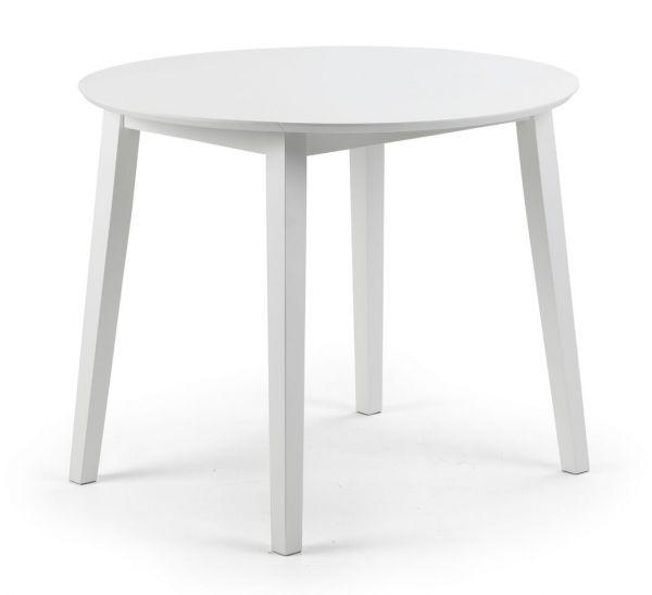 Julian Bowen Coast White Drop-Leaf Dining Table