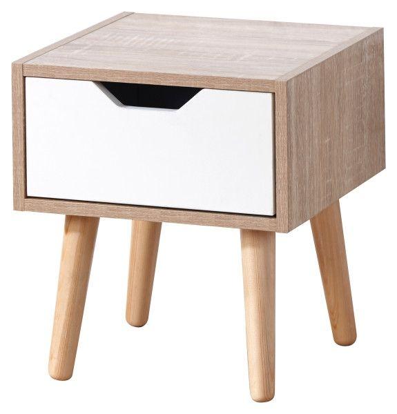 Stockholm 1 Drawer Bedside Table - Oak