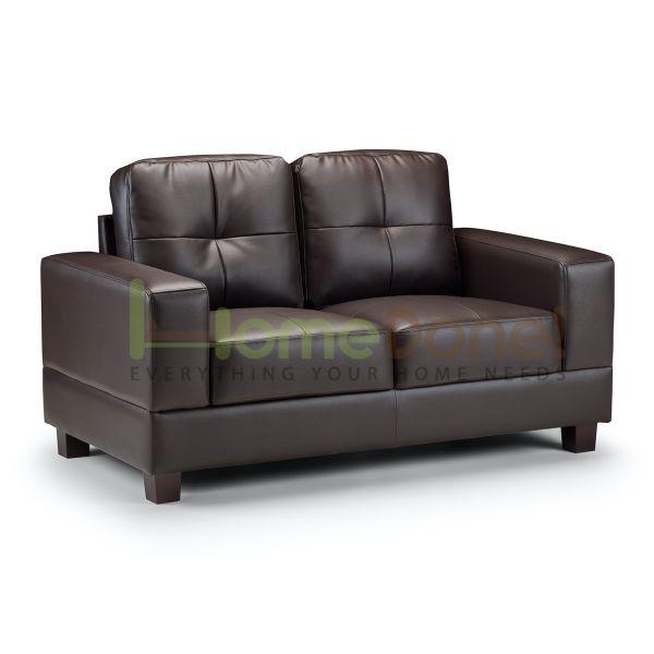 Jior Faux Leather 2 Seater Sofa - 2 Colours
