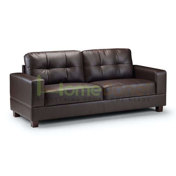 Jior Faux Leather 3 Seater Sofa - 2 Colours