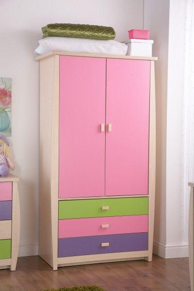 Sydney 2 Door 3 Drawer Wardrobe - Pink