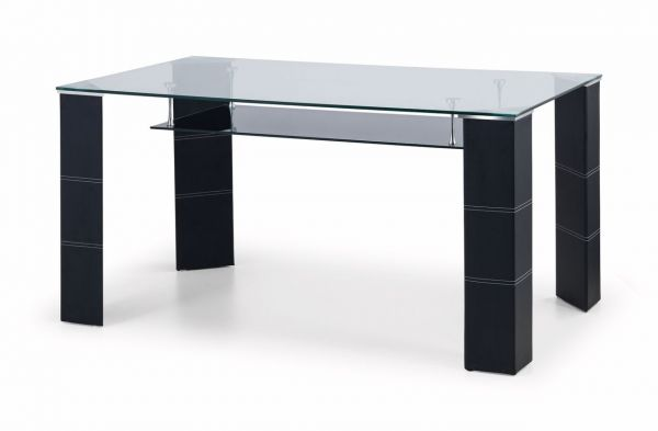 Julian Bowen Greenwich Black Glass Dining Table
