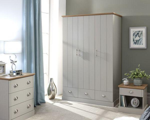 Kendal 4PC Bedroom Furniture Set - Grey