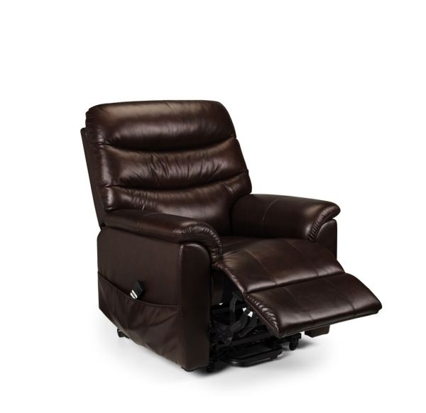 Julian Bowen Pullman Brown Leather Rise & Recline Armchair
