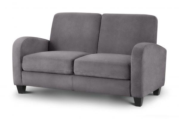 Julian Bowen Vivo Dusk Grey Fabric 2-Seat Sofa