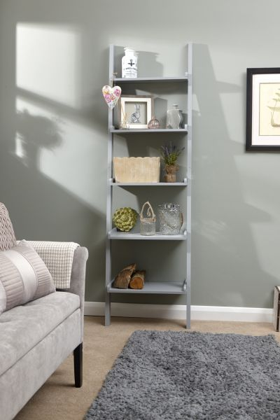 Ladder Style Wall Storage Rack - White or Grey