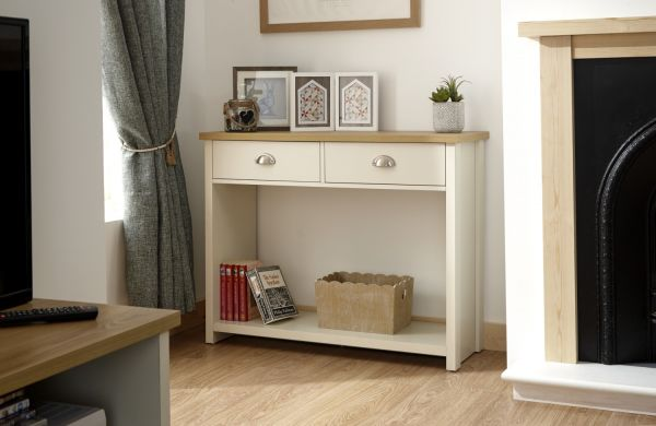 Lancaster 2 Drawer Console Table - Cream or Grey