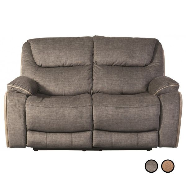 Sweet Dreams Langley Recliner Fabric 2-Seat Sofa - Fawn or Smoky