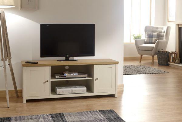 Lancaster Large 2 Door TV Stand Cabinet - Cream or Grey