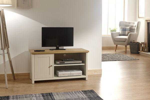 Lancaster Small 1 Door TV Stand Cabinet - Cream or Grey