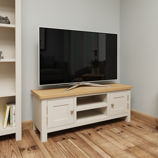 Ether Large TV Unit - Dove Grey