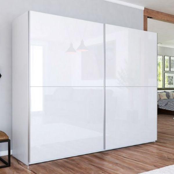 LUXE III White Gloss Sliding Door Wardrobe