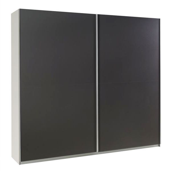 LUXE XVIII Graphite Sliding Door Wardrobe
