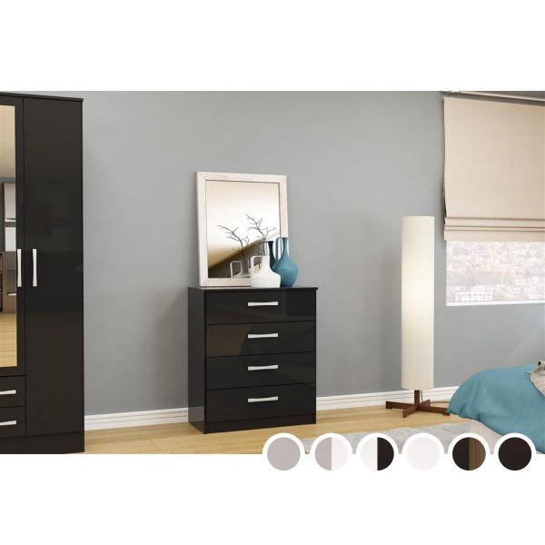 Birlea Lynx 4 Drawer Bedroom Chest - Multiple Colours