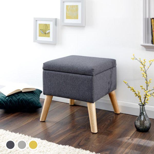 Alexandra Small Storage Ottoman Seat - 3 Colours
