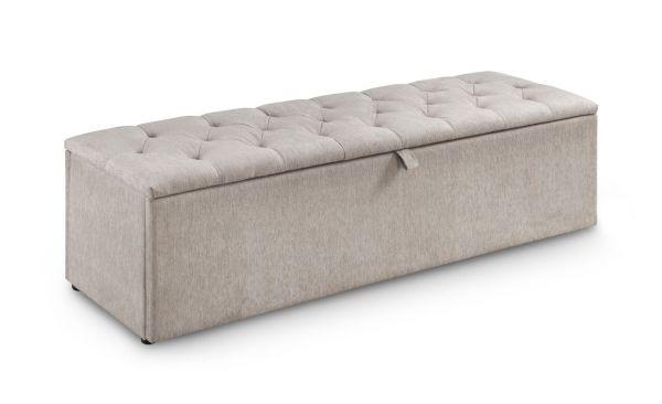 Julian Bowen Ravello Mink Chenille Blanket Storage Box