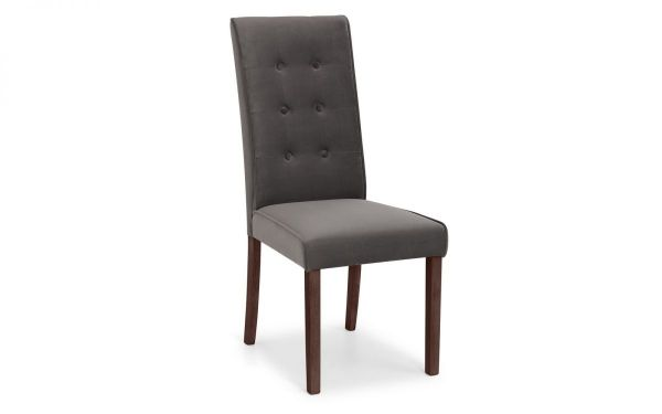 Julian Bowen Madrid Grey Velvet Dining Chair