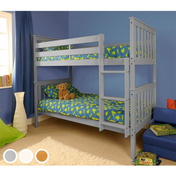 Wembdon Premium Wood Bunk Bed with Mattress Option