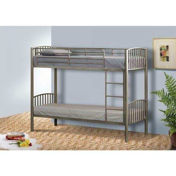 Modern Metal 3FT Single Kids Bunk Bed Frame - 3 Colours
