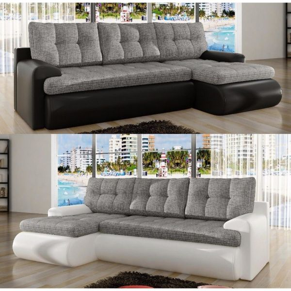 Caleb Dual Toned Corner Sofabed with Storage
