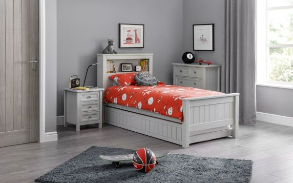 Julian Bowen Maine Bookcase Bed - White or Grey