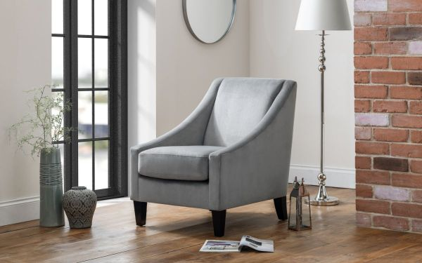 Julian Bowen Maison Velvet Chair - Slate Grey