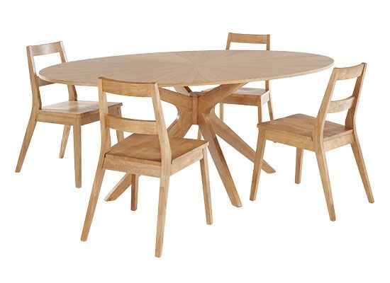 LPD Malmo Dining Table - White Oak