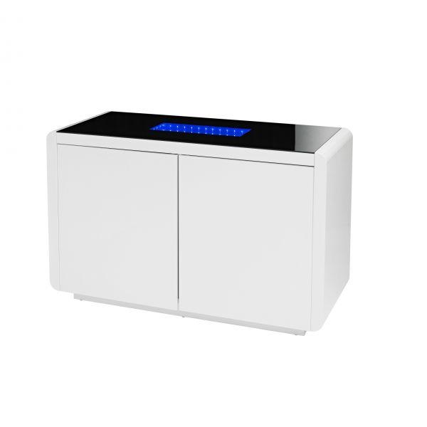 LPD Matrix Blue LED 2 Door Sideboard - White/Black