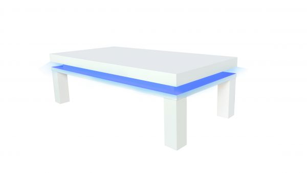 LPD Milano Blue LED Coffee Table - White