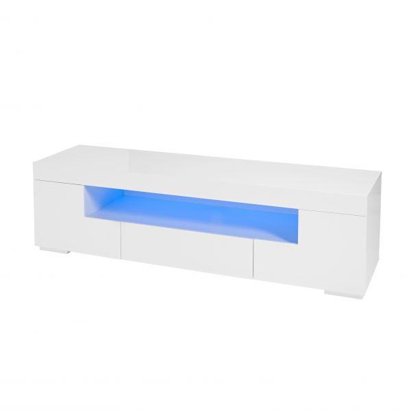 LPD Milano Blue LED Media Unit - White