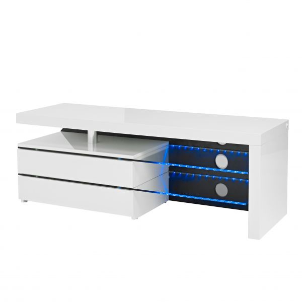 LPD Milano Blue LED TV Stand Unit - White