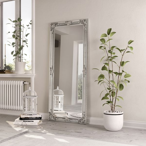 Encor Wooden  Mirror - Silver