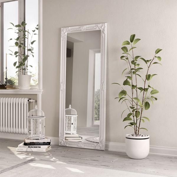 Encor Wooden  Mirror - White