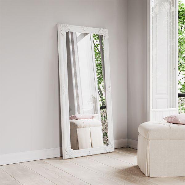 Lily Wooden Mirror - White