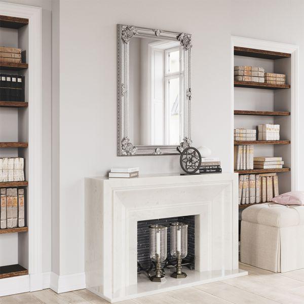 Tron Wooden Mirror - Silver