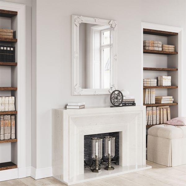 Tron Wooden Mirror - White