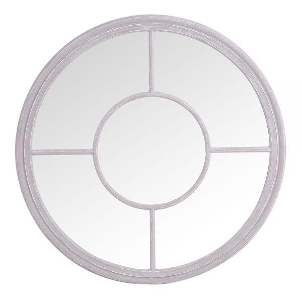 Round Window Mirror - Grey