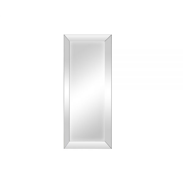 Large Bevelled Glass Mirror - Grey