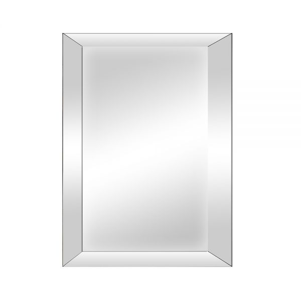 Small Bevelled Glass Mirror - Grey
