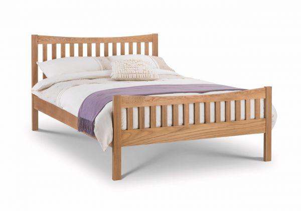 Julian Bowen Bergamo Oak Wood Bed - Double or King